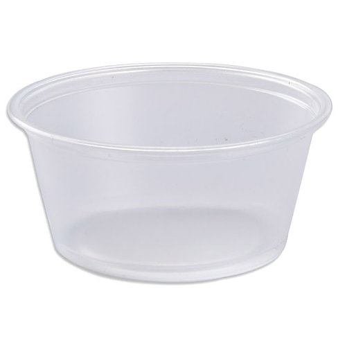 3.25 oz Translucent Plastic Portion Cup