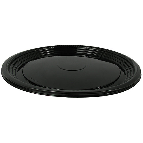 "Caterline 12"" Black Round Trays"