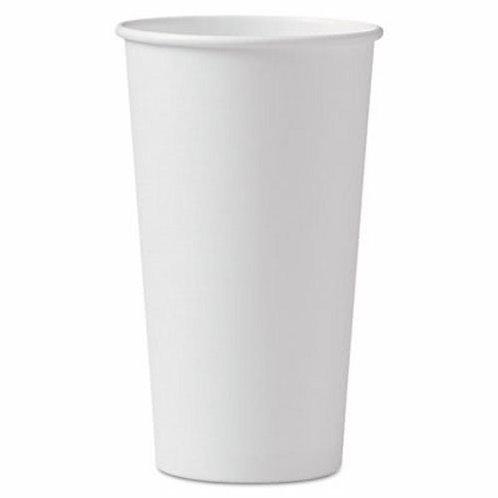20 oz. White Paper Cup
