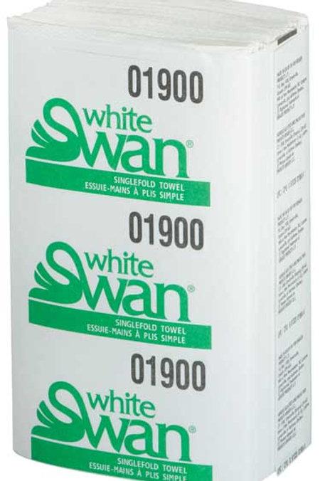White Swan White Singlefold Towel