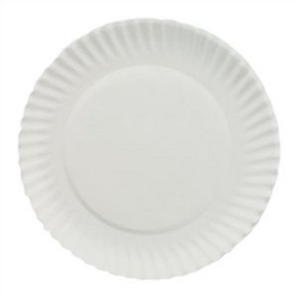 """9"""" Uncoated Paper Plate"""