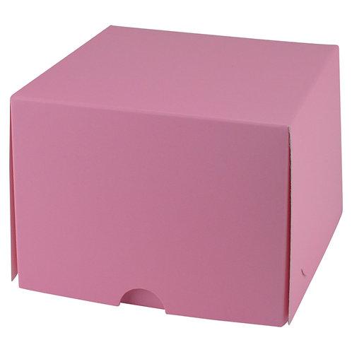 "Pink Single Cupcake Box 4 x 4 x 4"""