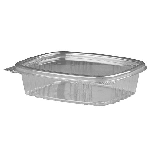 Genpak 8oz Clear Hinged Deli Container
