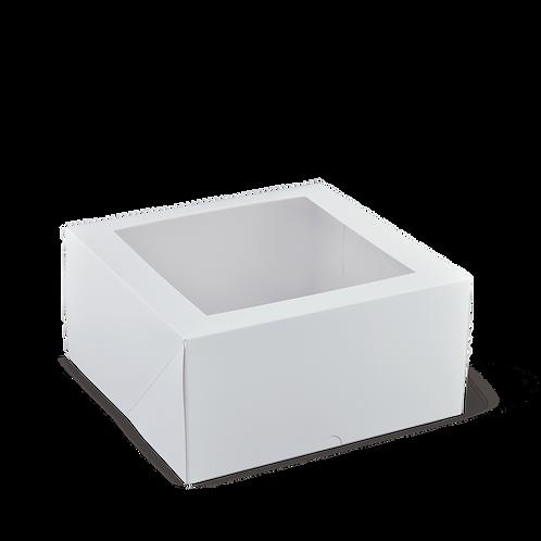 8 x 8 x 2.5 White Cake Box with Window