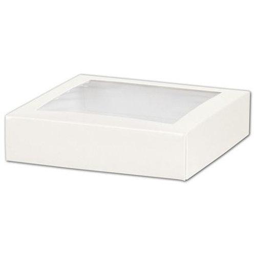 9 x 9 x 2.5 White Pie Box with Window