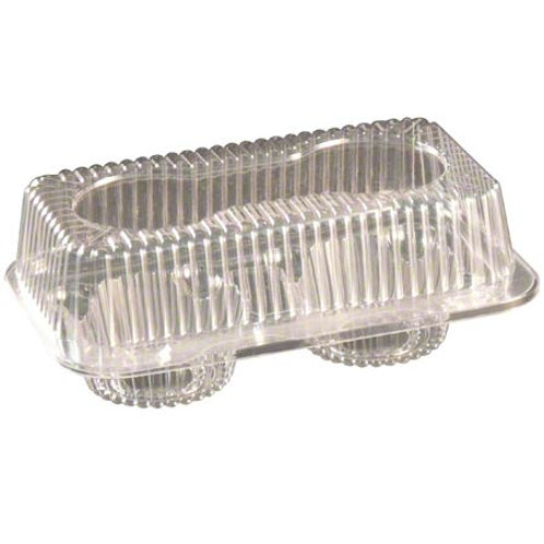 2 Cavity Hinged Muffin Container