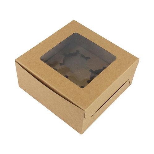 6 x 6 x 2.5 Kraft Box with WIndow