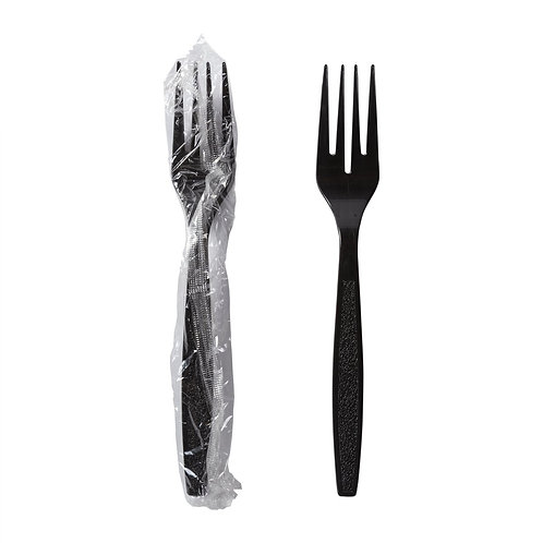 Individually Wrapped Black Forks