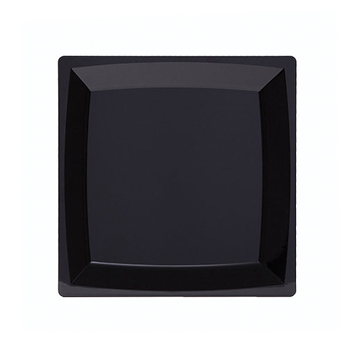 "Milan 9"" Black Square Plate"