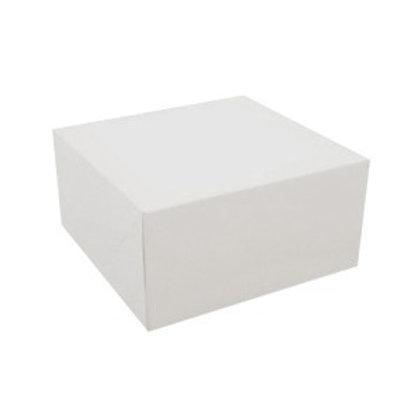 9 x 9 x 5 White Cake Box
