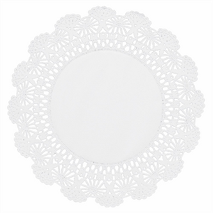 "8"" Round White Lace Doilies"