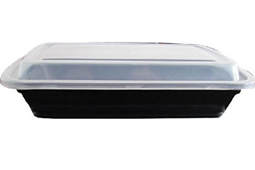 Microwaveable 28oz Black Container Combo