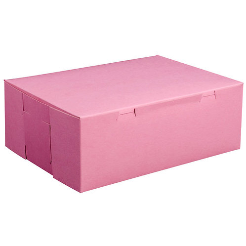 "14 x 10 x 4"" Pink Cake Box"