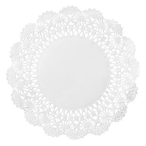 "4"" Round White Lace Doilies"