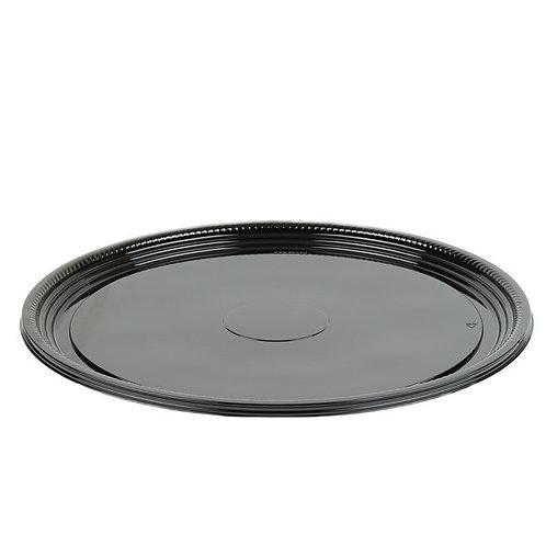 """Caterline 18"""" Round Black Trays"""