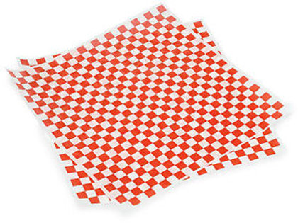 "Red Check 12""x12"" Basket Liner"