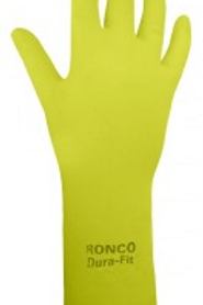 Medium Ronco Dura Fit Yellow Rubber Gloves