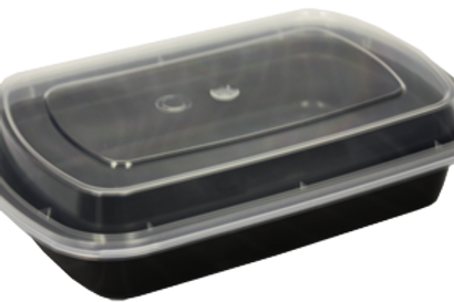 Microwaveable 24oz Black Container Combo