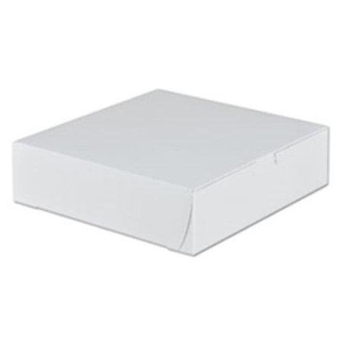 9 x 9 x 2.5 White Pie Box