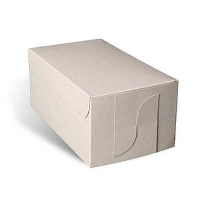 6 x 3.25 x 3 White Cake Box