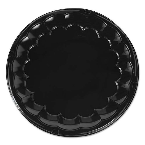 "Pactiv 16"" Flat Black Serving Tray"