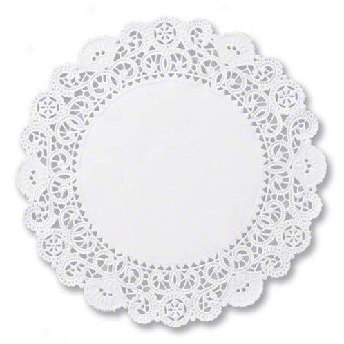 """10"""" Round White Lace Doilies"""
