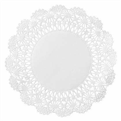"6"" Round White Lace Doilies"