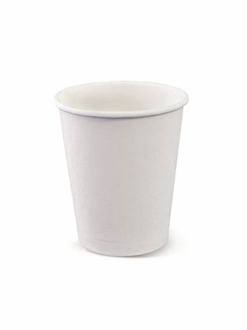 8 oz.Squat White Paper Cups