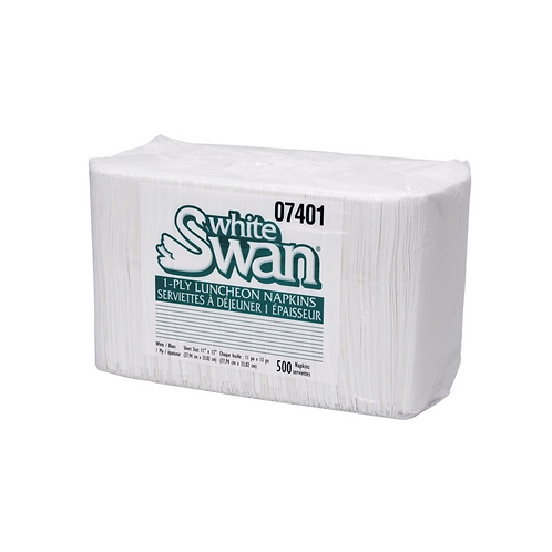 White Swan 1 Ply Luncheon Napkins