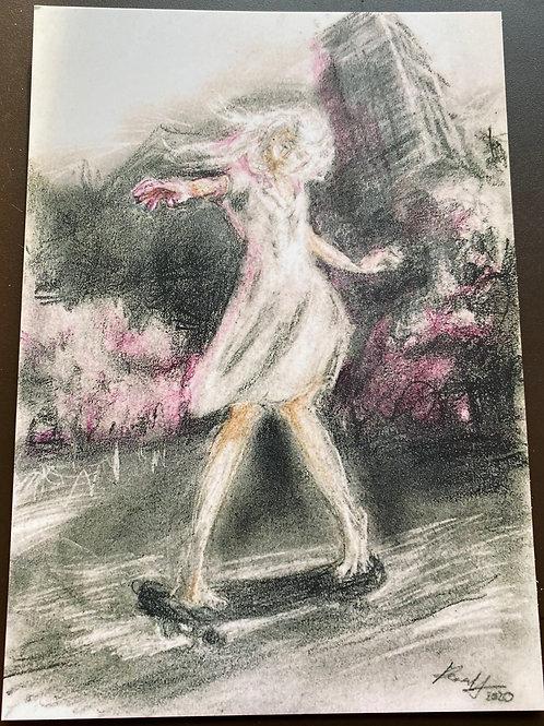 "Kunstkarten Skater, je 3 Stück, Motive ""Dance"", ""Drive"" und ""Standing"""
