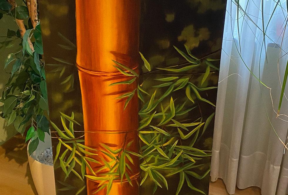 """""""Bambus mit Gräsern und Blumen"""""""