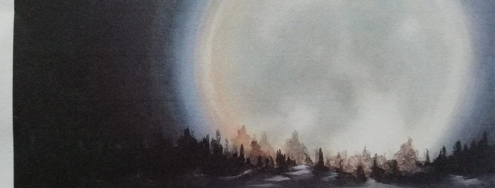 """""""Mondaufgang über Beilstein an der Mosel"""""""