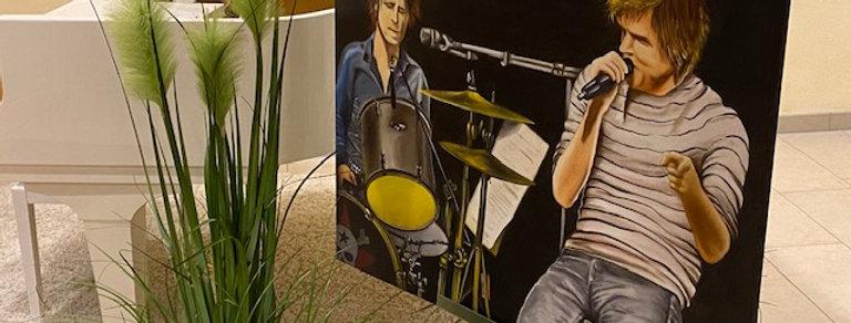 """Die Band"", Ölgemälde"