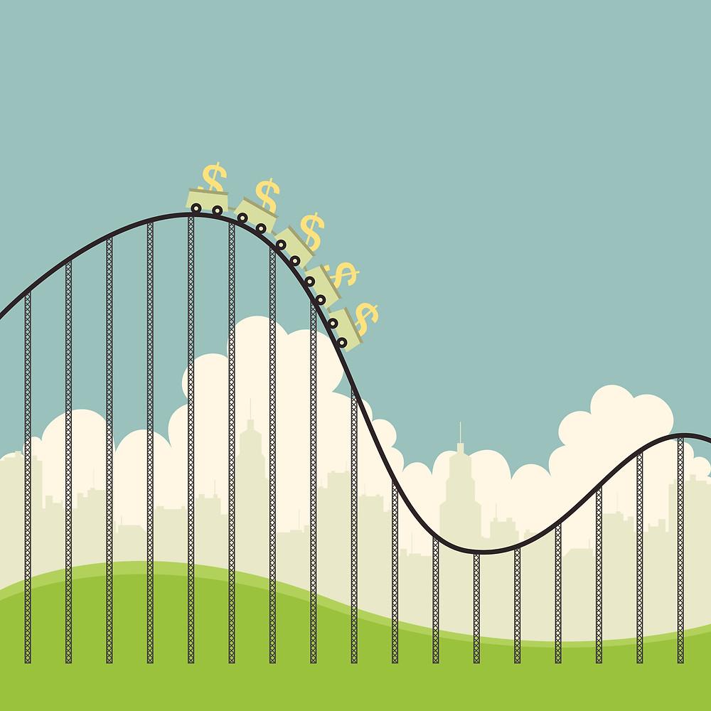 Roller coaster money not always up