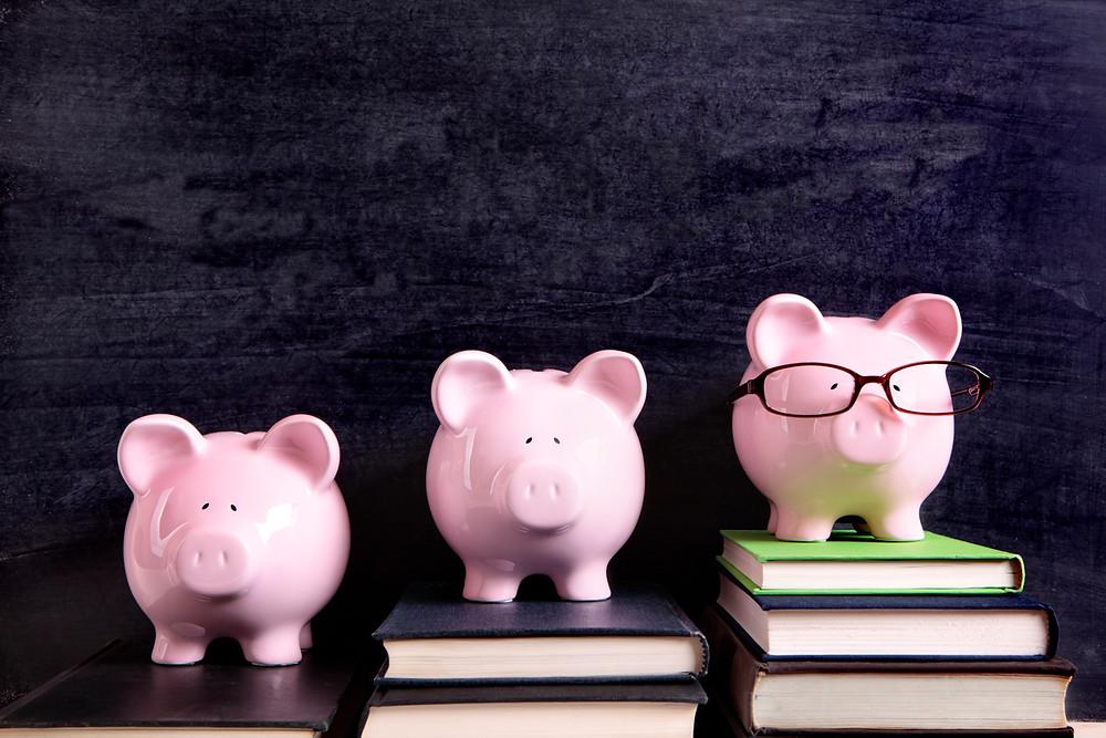 Profits over time piggy bank