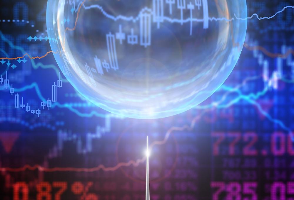 bubble burst stocks market home investments