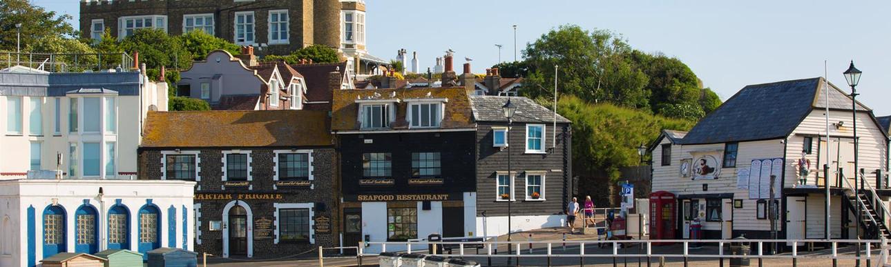 Viking Bay Broadstairs Harbour & Tartar Frigate
