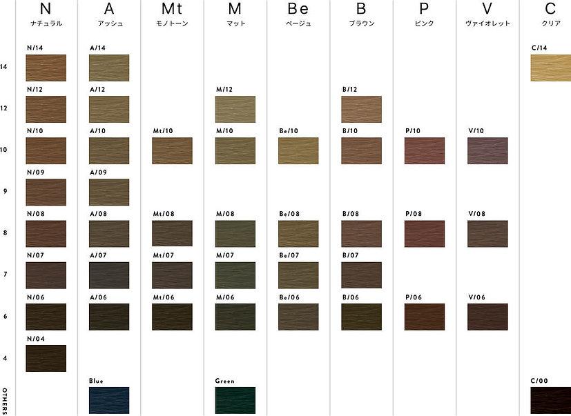 ファッションカラーチャート