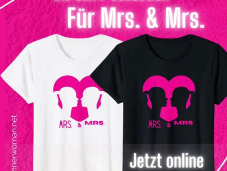 💓Shirts für Mrs. & Mrs.