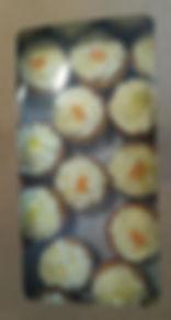 Boxed lemon curd cupcakes