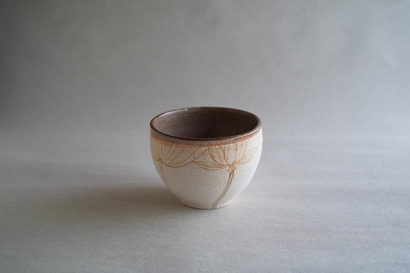 beige lotus flower bowl