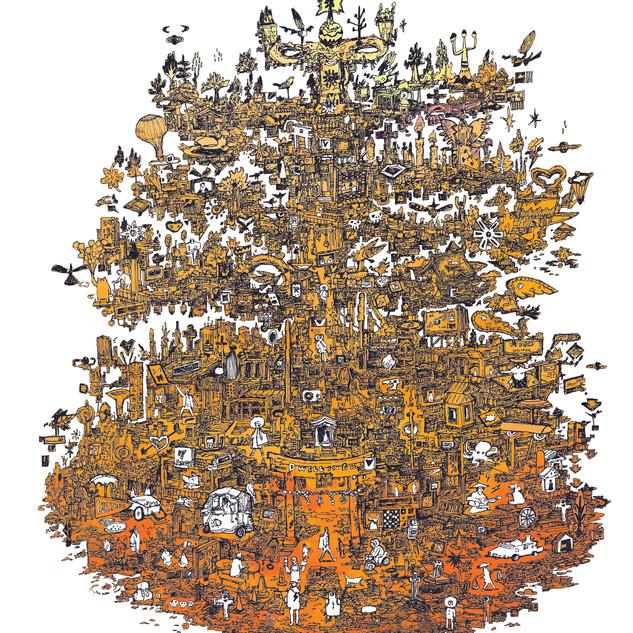"""日本とメキシコのアーティストによるオンライン・エキシビション「OVERWORLD/オーバーワールド」特設サイトが公開されました。 スマホ、PCがあればWEBを通して、各島の各作家の作品をご覧いただけます。ぜひご覧ください。  僕は【住まう島/Dwelling island】をテーマに、メキシコの建築家のAndres @soutonco と、フィルアニメーターJonathan Hagard @jonobajaj のさんからインスピレーションを基に得た島のビジュアルを描いてます。  展覧会はFundación Japón en México 国際交流基金メキシコ日本文化センター主宰(@jf_mexico )の元、キュレーターは、Bridge to Kyoto(@bridgetokyoto) と、メキシコシティに拠点を置く建築キュレーション・プラットフォームProyector( @proyectorarq )のサポートを得て日本とメキシコから15名のアーティスト・建築家、デザイナー、イラストレーターを集められ、共に「都市の群島(Urban Archipelago)」を日英西の3カ国語で展開されます。12月第1週目に、日本語版もリリース予定です。  Check out the show here https://www.overworld.mx/In this exhibition, we made the """"urban archipelago"""" - under the 5 themes that represent our life in cities. I've learned a lot from a talented, experienced curator Tania Tovar and her partner Juan Espinosa Cuock. I can't wait to invite you all to come to Japan in the future for more collaboration. Dwelling IslandAndres Souto & Jonathan HagardIllustration by: Riichirou ShinozakiEating IslandAdriana David & Mei NishiyamaIllustration by: Karen AguilarMoving IslandErika Loana & Keith SpencerIllustration by: Mónica GarcíaGathering IslandLANZA Atelier (Alessandro Arienzo & Isabel Martinez Abascal) & Reina ImagawaIllustration by: Alan RodríguezWorking IslandZaickz Moz (Francisco Mosqueda) & NO ARCHITECTS (Hiroshi Nishiyama & Keiko Okudaira)Illustration by: Kyoko NakamuraSpecial thanks to Reina Imagawa and Higashi Shun for helping us develop the exhibition theme. Exhibition Organized by The Japan Foundation, Mexico.Curators: Mariko Sugita – Bridge To (JP) / Tania Tovar and Juan Espinosa Cuock - ProyectorWebsite development by Jasper StephensonMedia Partner: Arquine"""