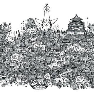 トンボ鉛筆 「モノグラフライト」プロモーションイラスト 大阪編