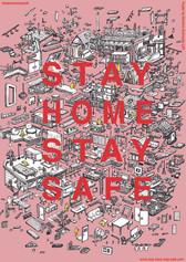 """各国アーティストによる対コロナのポスターキャンペーン""""STAY SANE, STAY SAFE""""に参加してます。無料DL可能(サイズ:A4、インスタ、ストーリー)等プリント自由です。"""
