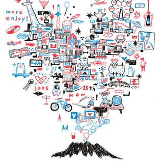 ◯未来を編み出そう『アミュだせ! チャリT』 アミュプラザ鹿児島15周年記念ティシャツデザインしました。