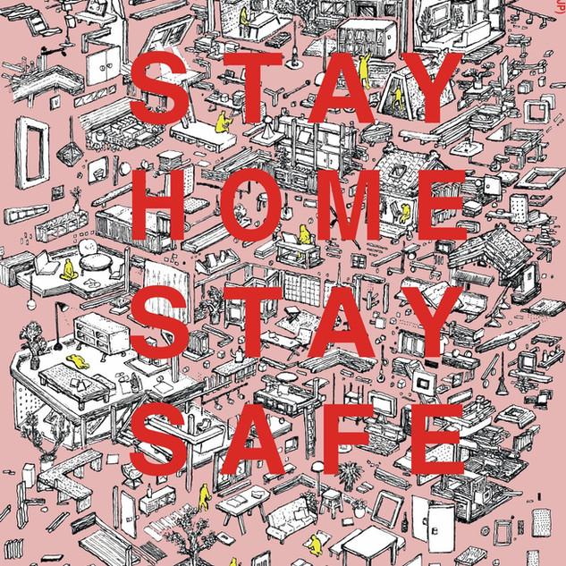 """各国アーティストによる対コロナのポスターキャンペーン""""STAY SANE, STAY SAFE"""" 参加イラスト"""