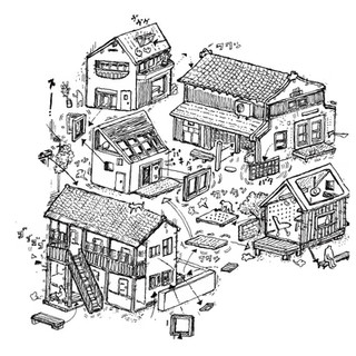建築家の辻琢磨氏の建築企画事務所 tsujitakuma office and project のWebイラスト その1