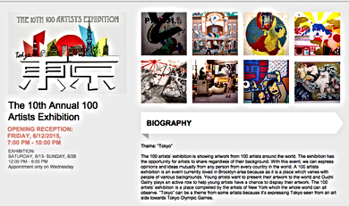 The 10th 100 Artists Exhibition @ Ouchi Gallery in NY