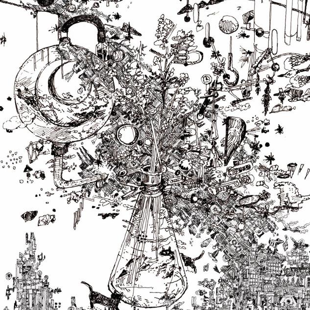 篠崎理一郎 個展 <未来鏡>@阿佐ヶ谷VOID  ビジュアルイラスト
