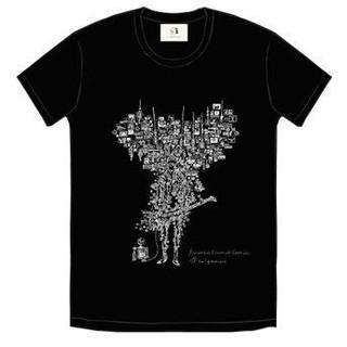 """TK from 凛として時雨 『Acoustique Electrick Session""""』Goods Inside T-shirt  ●Inside T-shirt PRICE:¥3,500 COLOR:ブラック SIZE:S / M / L / XL アーティスト篠崎理一郎氏によってこのAcoustique Electrick Sessionの為に描き下ろされたイラストレーションは、TKから放出される緻密なサウンドと、繊細な内面が表現されています。可視化されたサウンドから、暖かさと親密さを感じることのできるTシャツ。ネームタグにはコロネット生地を採用したTKのペンギンロゴが入っています。"""
